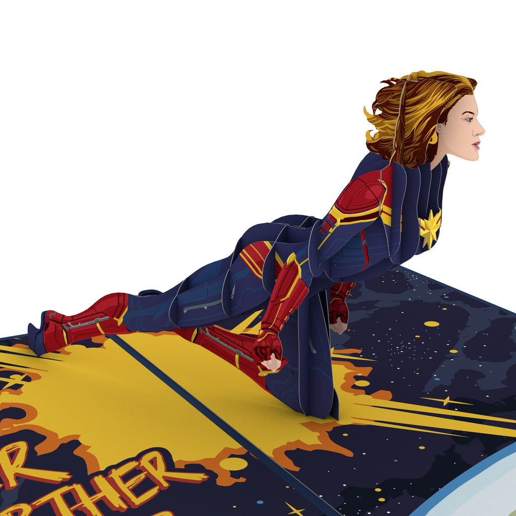 Captain Marvel birthday pop up card