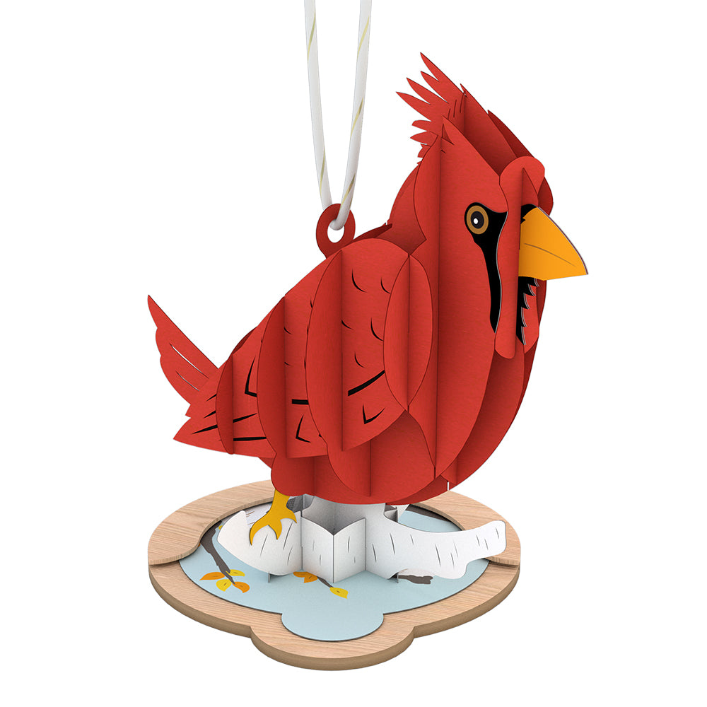 Cardinal Ornament             pop up card