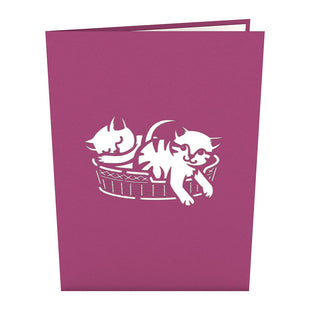 Cat Family Pop Up Card