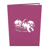 Cat Family                                   pop up card - thumbnail