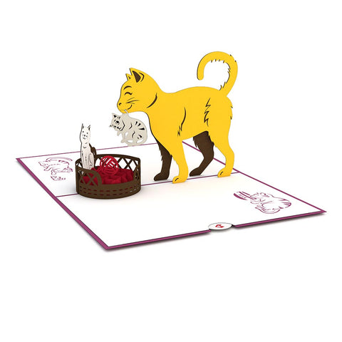 Cat Family Pop Up Card greeting card -  Lovepop