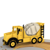 Cement Truck pop up card - thumbnail