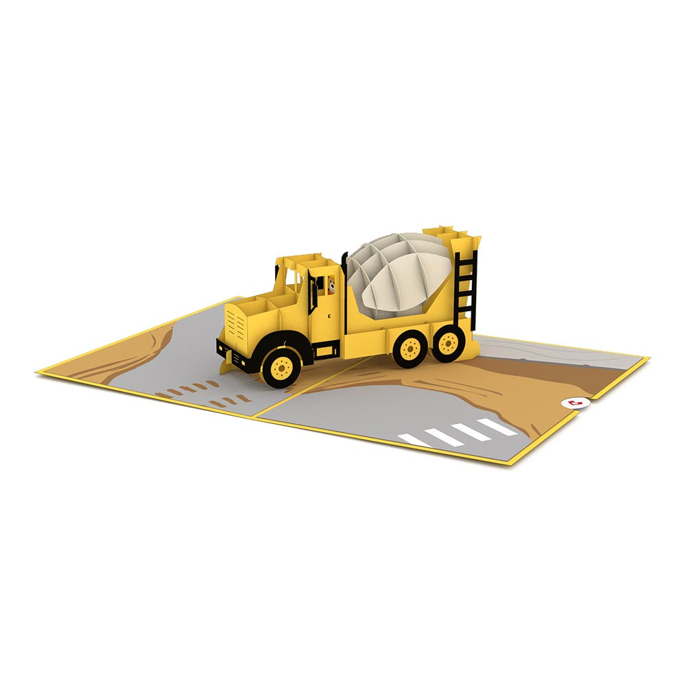 Cement Truck pop up card