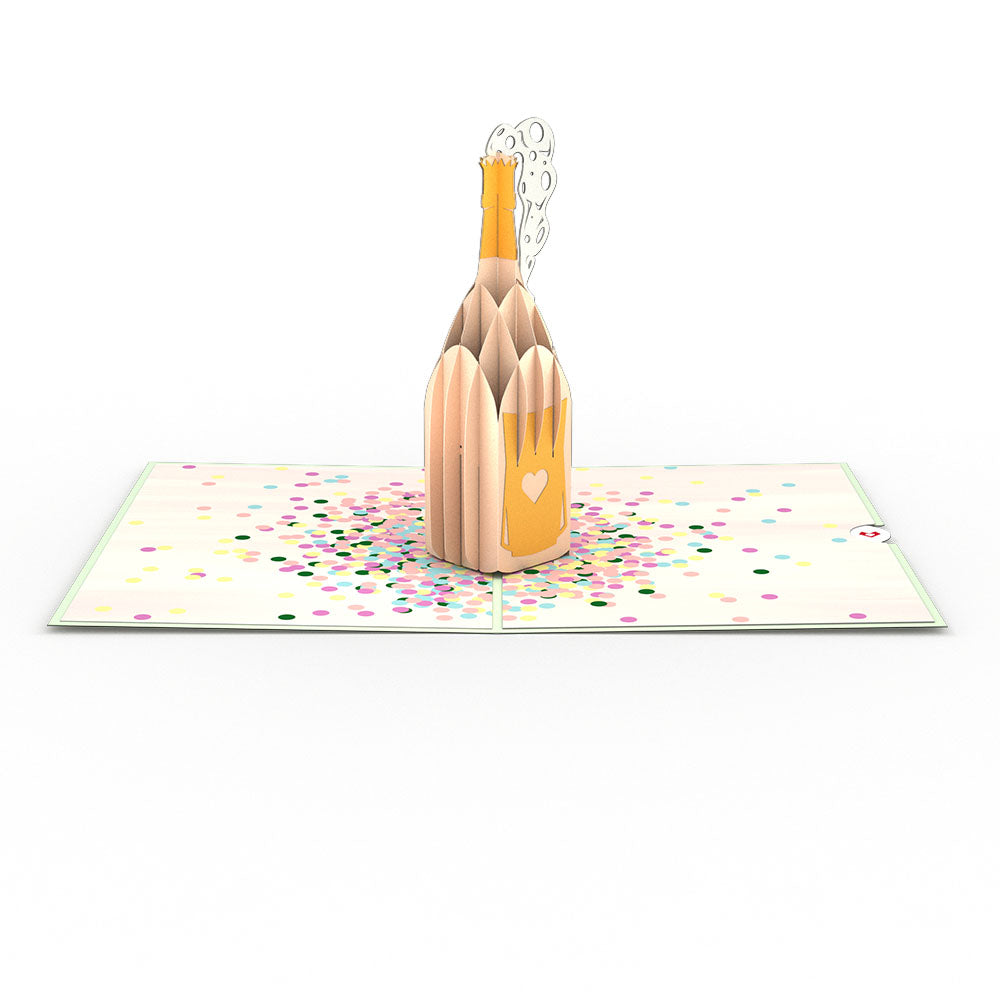 Champagne Pop birthday pop up card