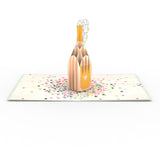 Champagne Pop birthday pop up card - thumbnail