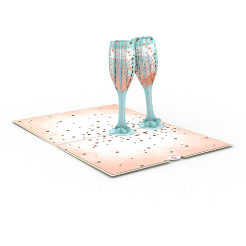 Champagne Toast greeting card -  Lovepop