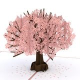 Cherry Blossom birthday pop up card - thumbnail