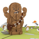 Chewbacca™ RARRRGGHH! birthday pop up card - thumbnail