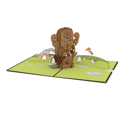 Chewbacca RAARRRGGH! Pop up Card greeting card -  Lovepop