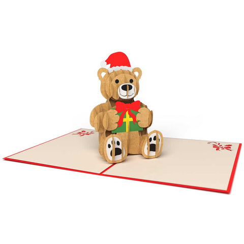 Holiday Bear Pop Up Christmas Card greeting card -  Lovepop