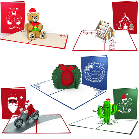 Christmas Fun Pop-up Card 5 Pack  greeting card -  Lovepop