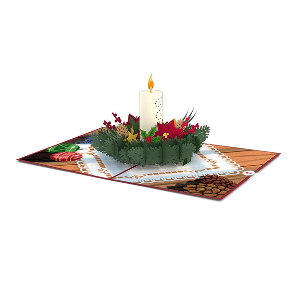 Night Before Christmas Candle Pop up Card