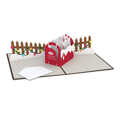 Christmas Mailbox Pop up Card greeting card -  Lovepop