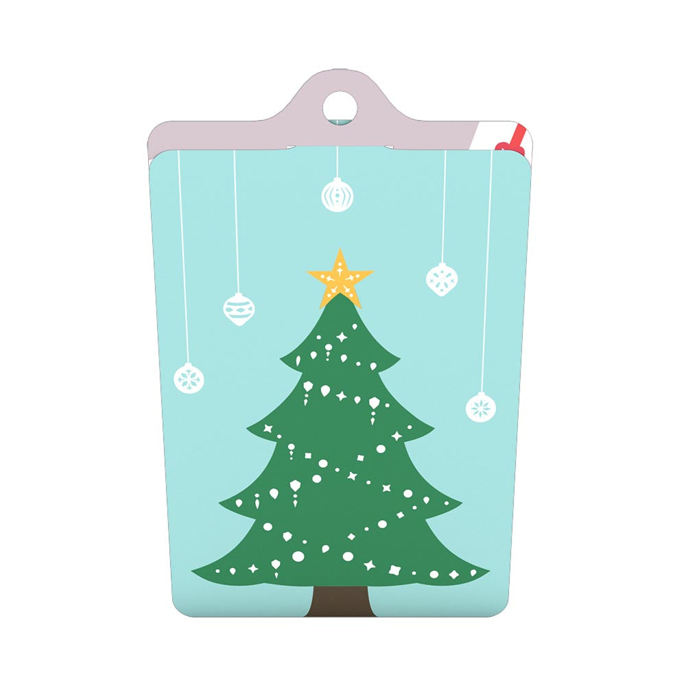 Turquoise Christmas Tree.Gift Tag 4 Pack Christmas Tree Lovepop
