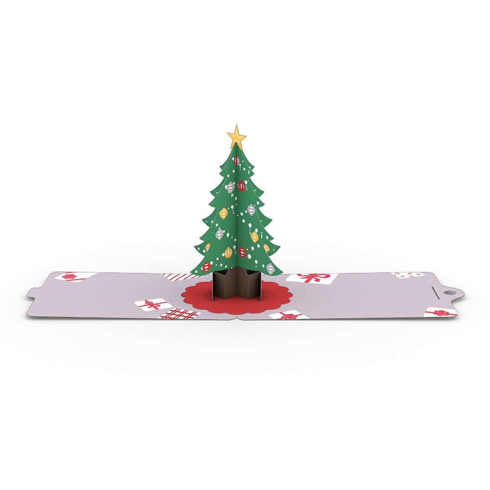 Christmas Tree Gift Tags 4 Pack pop up card