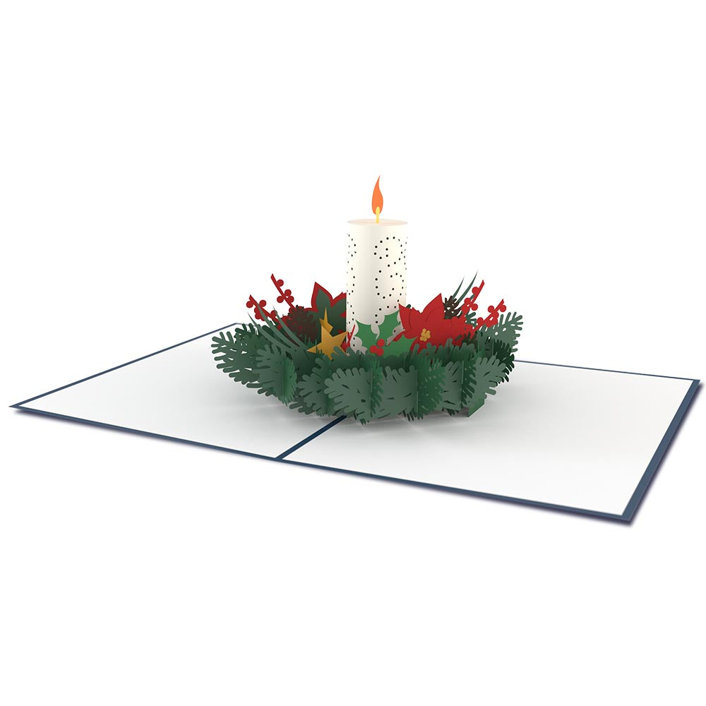 Christmas Candle Classic             pop up card