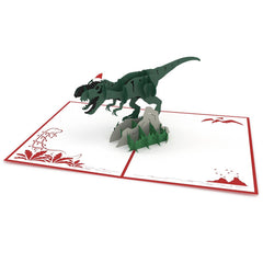 Christmas T-Rex greeting card -  Lovepop