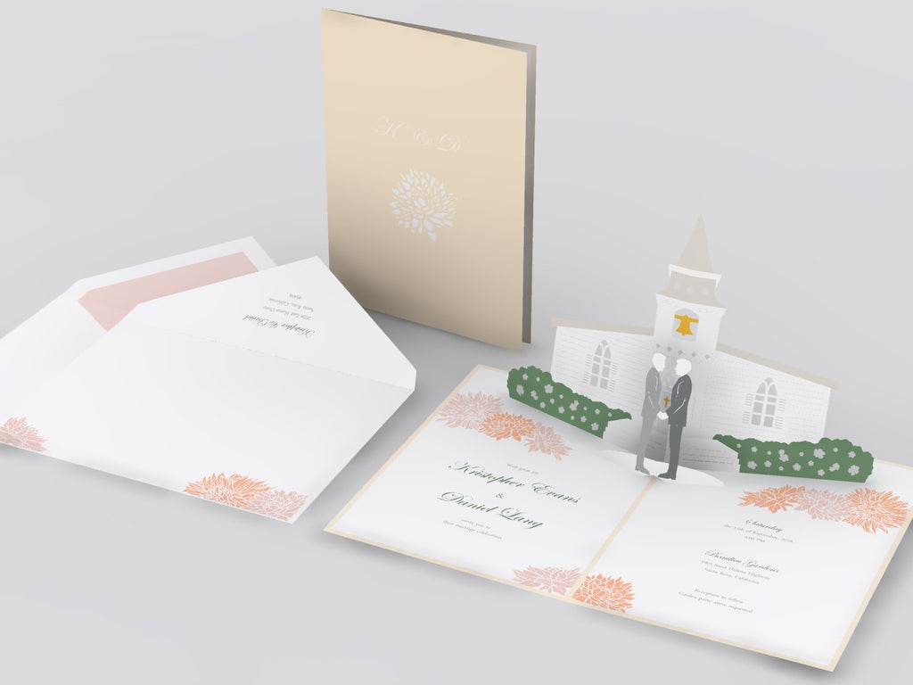 Church pop up card