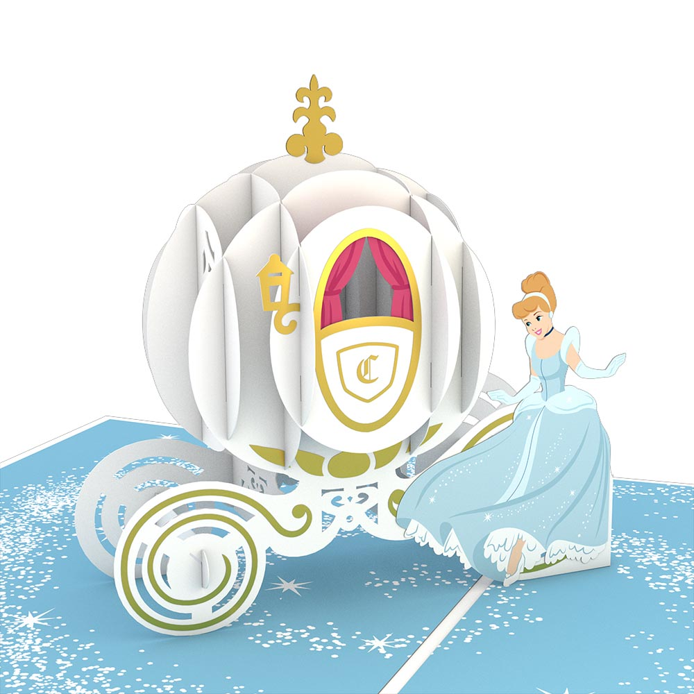 Disney's Cinderella                                             birthday                            pop up card