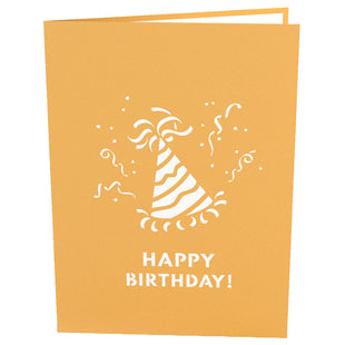 Vibrant Party Hat Pop Up Birthday Card
