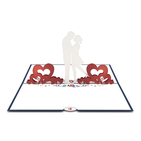 Couple in Love Pop Up Anniversary Card greeting card -  Lovepop