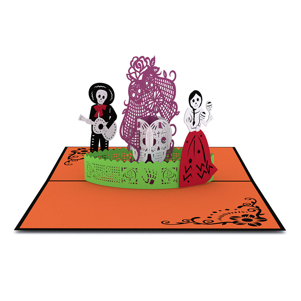 3d Halloween Cards Pop Up Greeting Lovepop Origami Diagrams Day Of The Dead Card