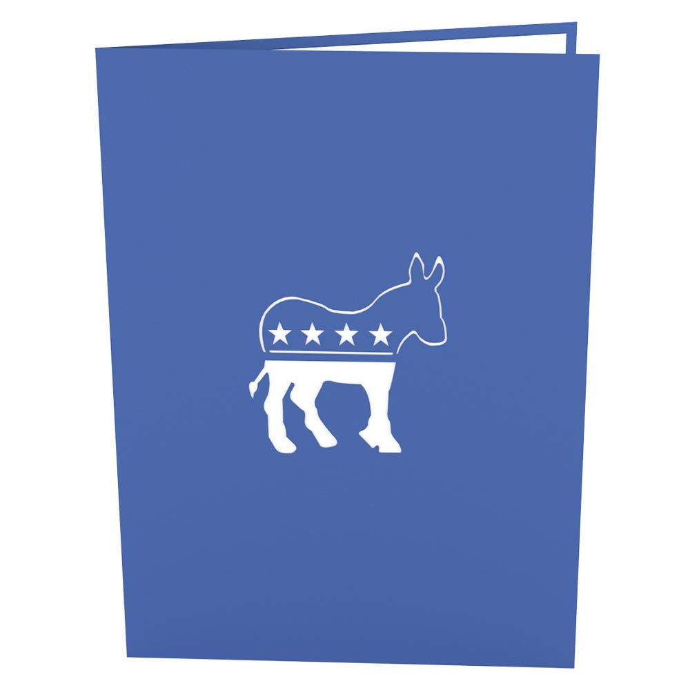 Democratic Donkey pop up card
