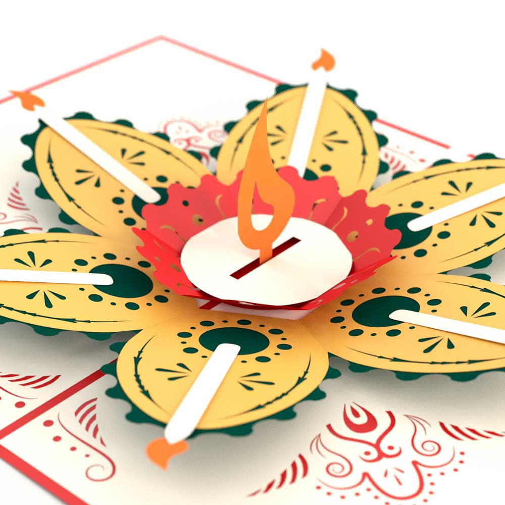 how to make diwali pop up greeting cards at home