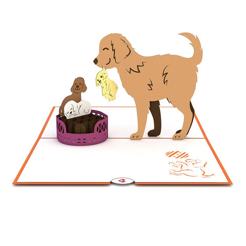 Dog Family Pop Up Puppy Card greeting card -  Lovepop