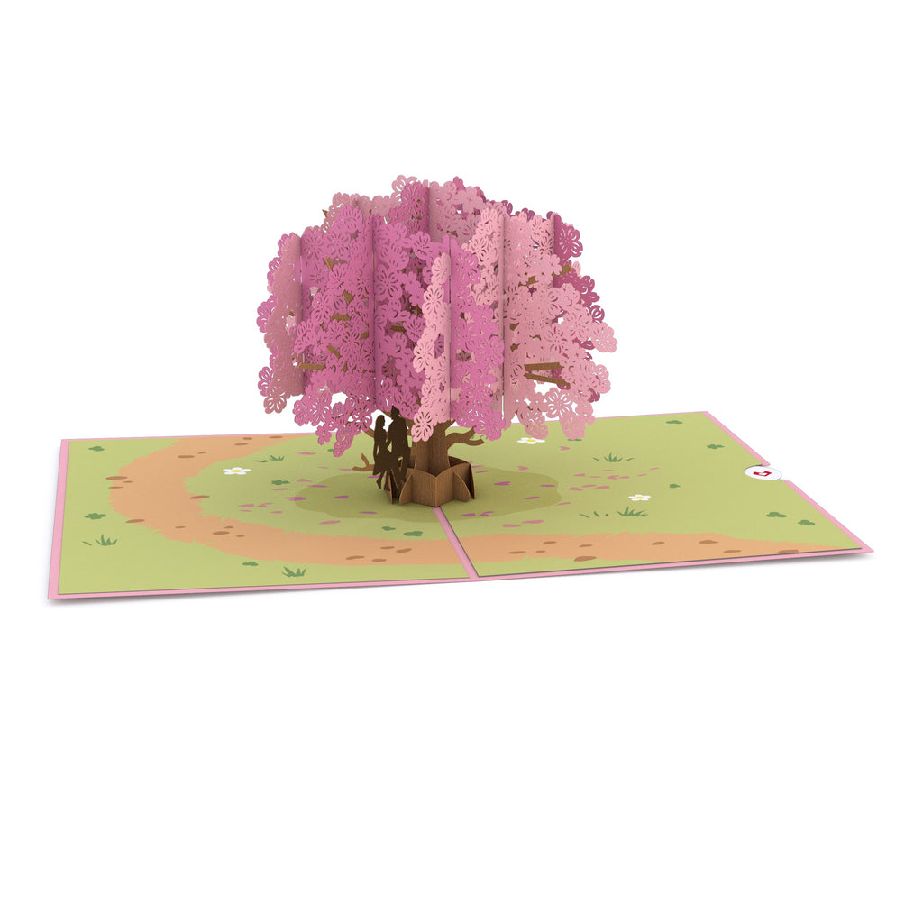 Dogwood Love Scene Purple             pop up card