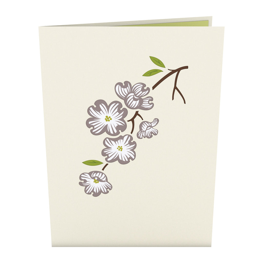 Dogwood Love Scene Gray Same Sex Male pop up card