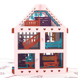 Dollhouse birthday pop up card - thumbnail