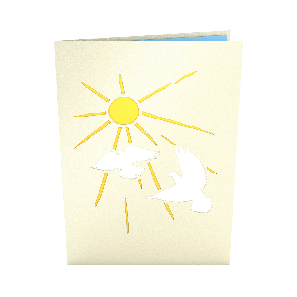 Doves pop up card