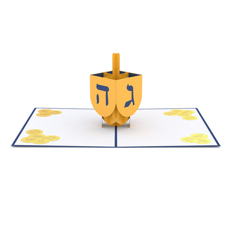 Dreidel Pop up Card greeting card -  Lovepop
