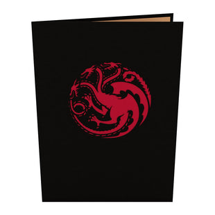 Game of Thrones Drogon and Daenerys Pop up Card
