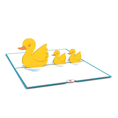 Ducklings Pop Up New Baby Card greeting card -  Lovepop