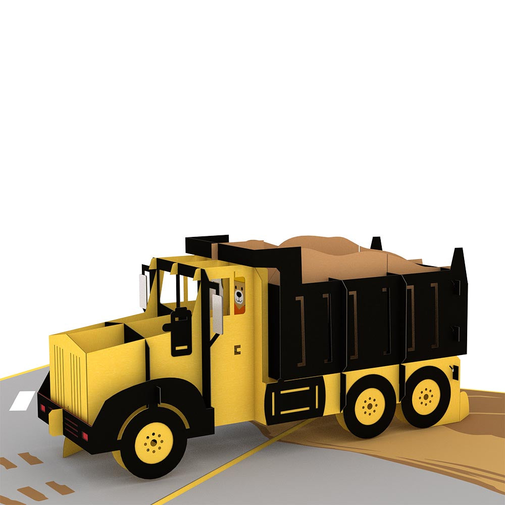 Dump Truck pop up card