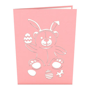 Easter Bunny Bear Pop Up Easter Card