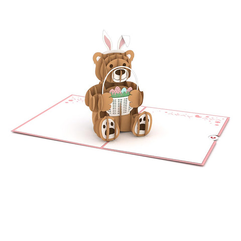Easter Bunny Bear Pop Up Easter Card greeting card -  Lovepop