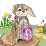 Easter Bunny with Egg                                   pop up card - thumbnail
