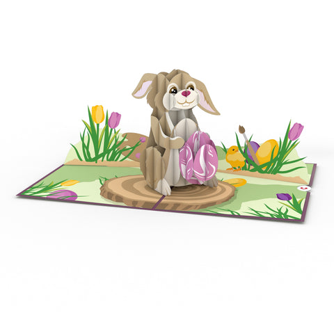Easter Bunny with Egg greeting card -  Lovepop