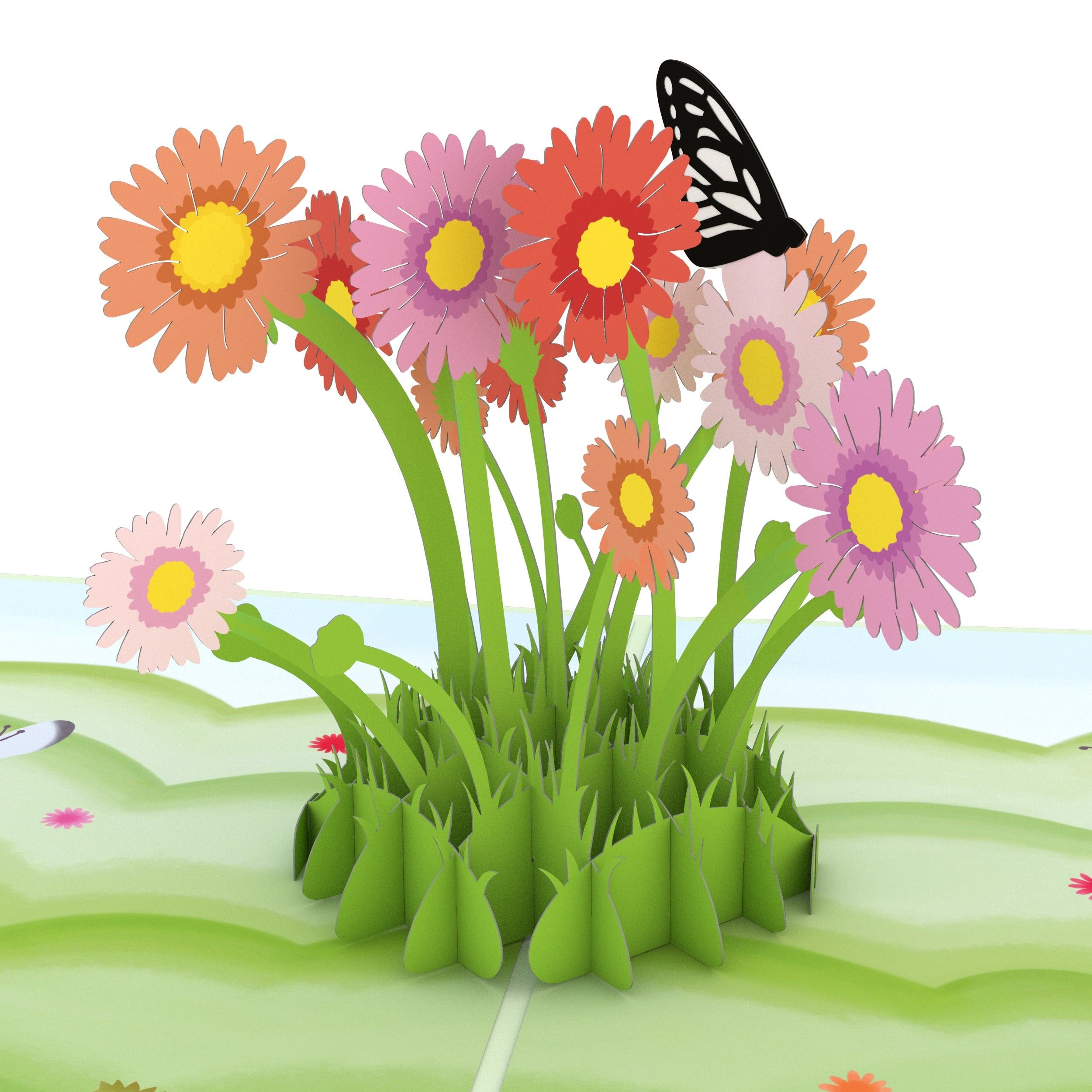 Easter Daisy Patch Pop Up Card