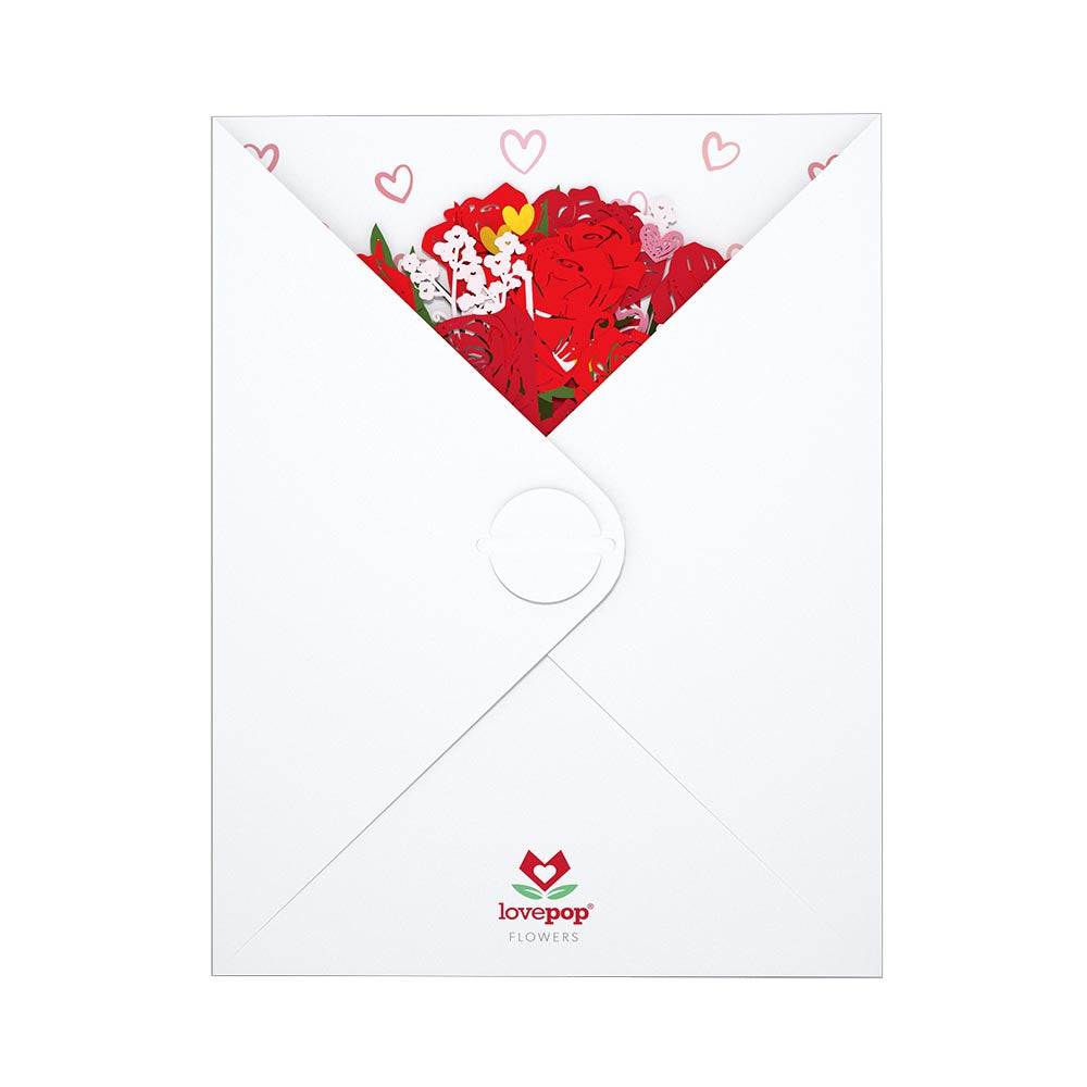 Sweetheart Flower Bouquet             pop up card