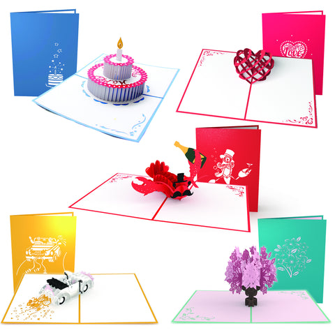 Everyday Pop-up Card 5 Pack greeting card -  Lovepop