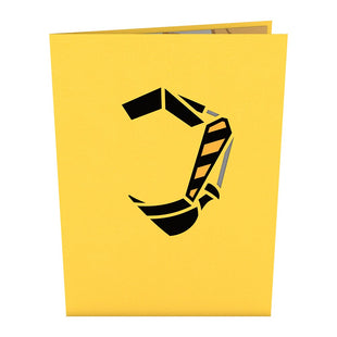 Excavator Pop Up Card