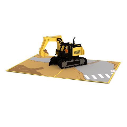 Excavator Pop Up Card greeting card -  Lovepop
