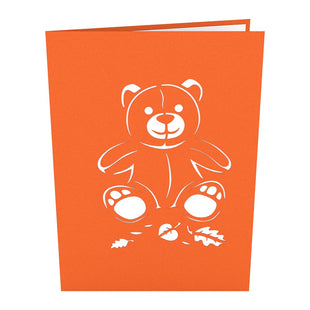 Fall Bear Pop Up Card
