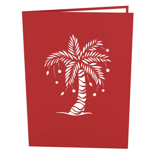 Festive Palm Tree Pop Up Christmas Card