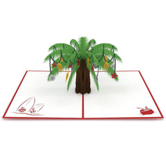 Festive Palm Tree Pop Up Christmas Card greeting card -  Lovepop