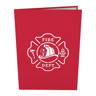 Fire Truck Pop Up Card